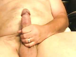 mature dad cums