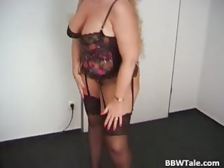 older obese golden-haired posing in her hot part0