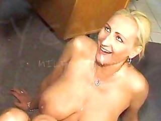 cum swallowing milf slut with large titties
