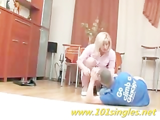 obscene russian mamma open her cookie for