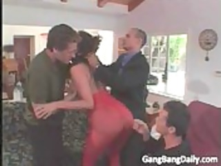 breasty brunette mommy with gag ball