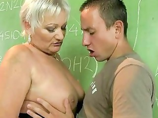 older teacher fucking with her student