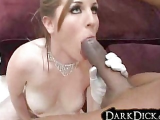 white wife drilled by black stud underware gloves