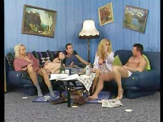 slutty older blond amateurs in a hot foursome