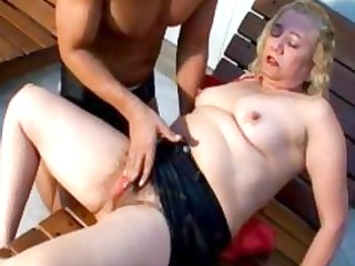 lusty blond aged gives excellent fellatio