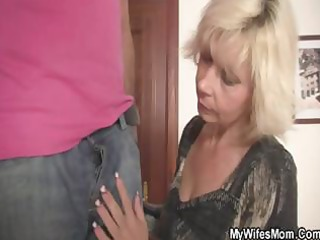 blond mama seduces her son in law and then