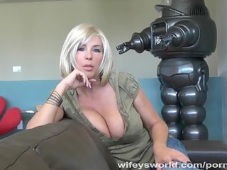 wifeys world - busty neighbour sucks schlong and