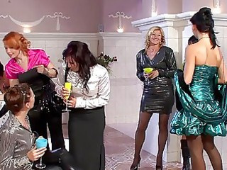 beautiful milfs in hot dresses having group sex