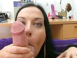 aged sweetheart gives wild oral job sex