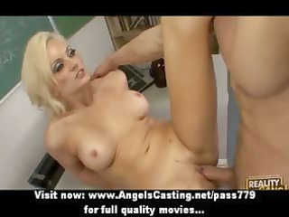 busty golden-haired d like to fuck screwed hard