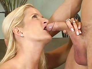 blond milfs ball licking blowjob action